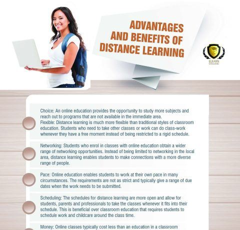 Advantages And Benefits Of Distance Learning Infographic
