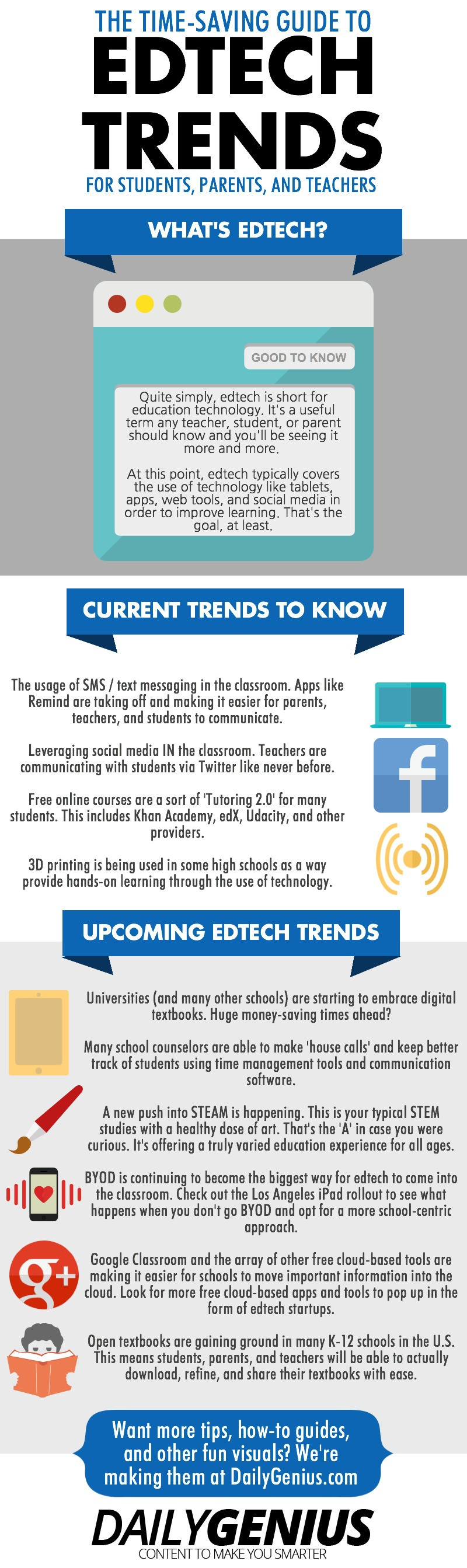 10 Current and Future Edtech Trends Infographic