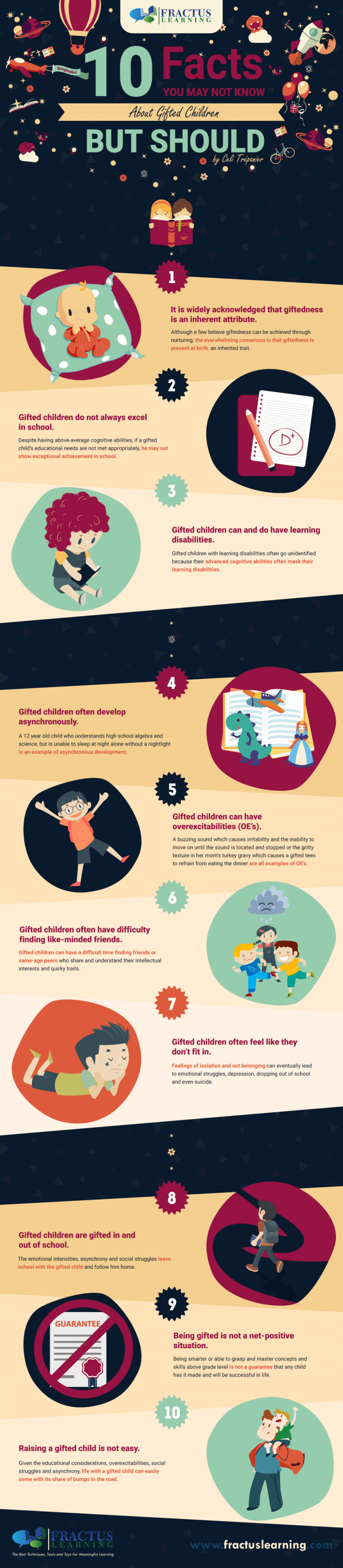 10 Facts You May Not Know About Gifted Children Infographic