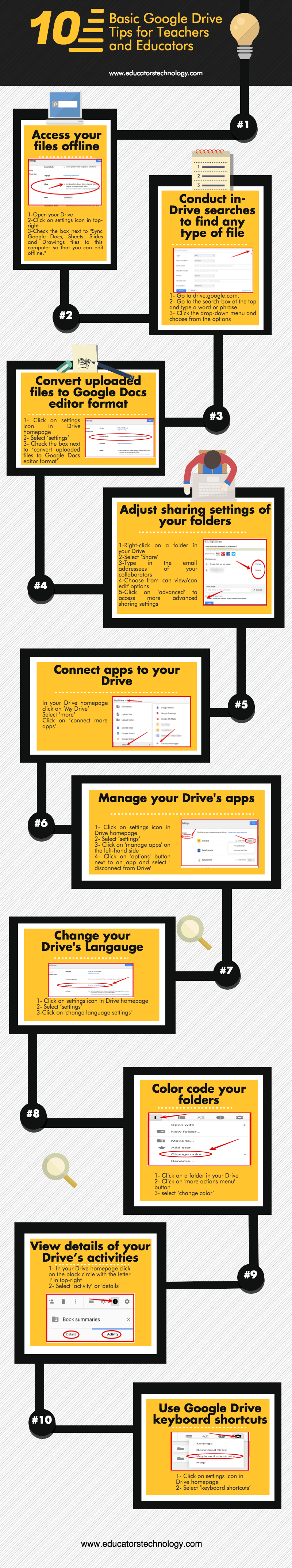 10 Google Drive Tips for Teachers Infographic