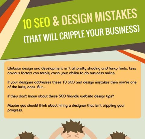 10 SEO & Design Mistakes (That Will Cripple Your Business) Infographic