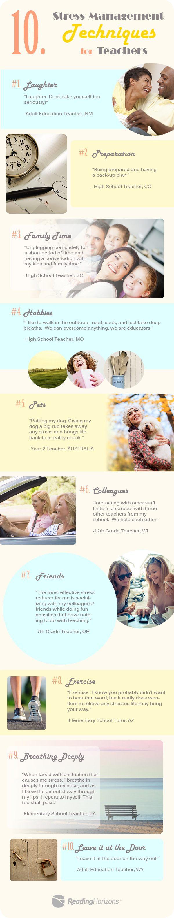 10 Stress-Management Techniques for Teachers Infographic