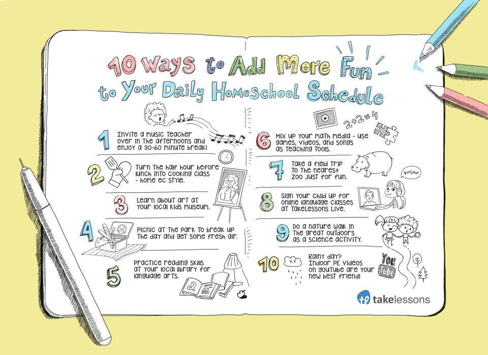 10 Ways To Add More Fun To Your Daily Homeschool Schedule