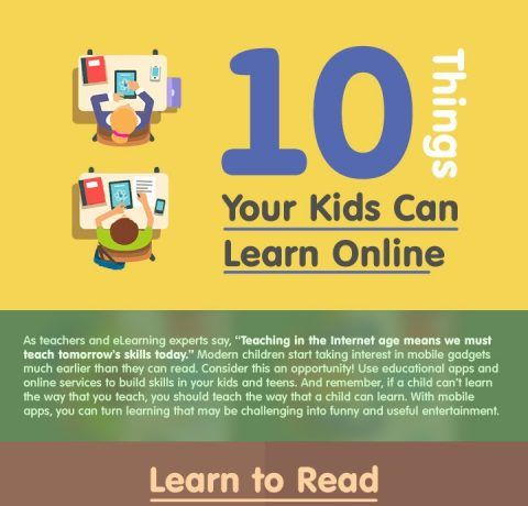 10 Things Your Kids Can Learn Online Infographic