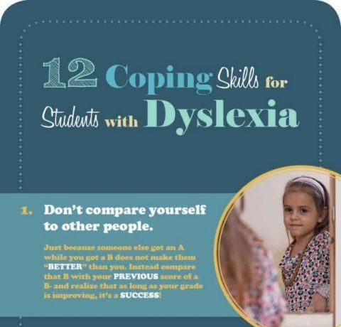 12 Coping Skills for Dyslexia Infographic