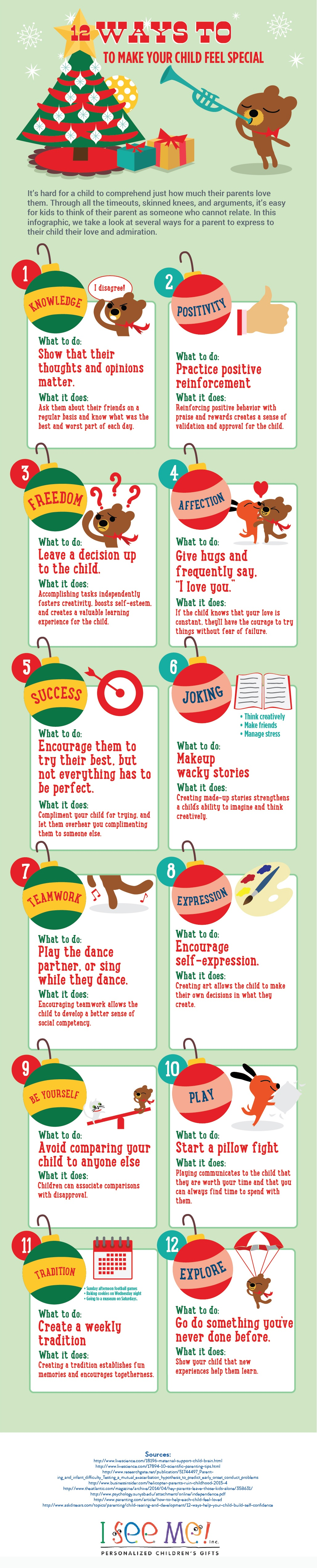12 Ways to Make Your Child Feel Special Infographic