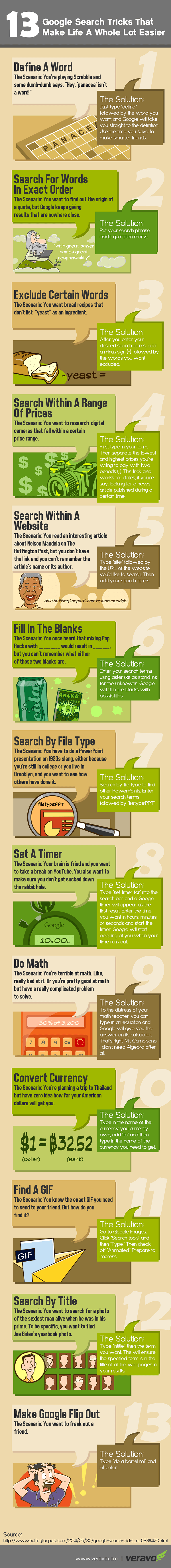 Google Search Tricks Infographic