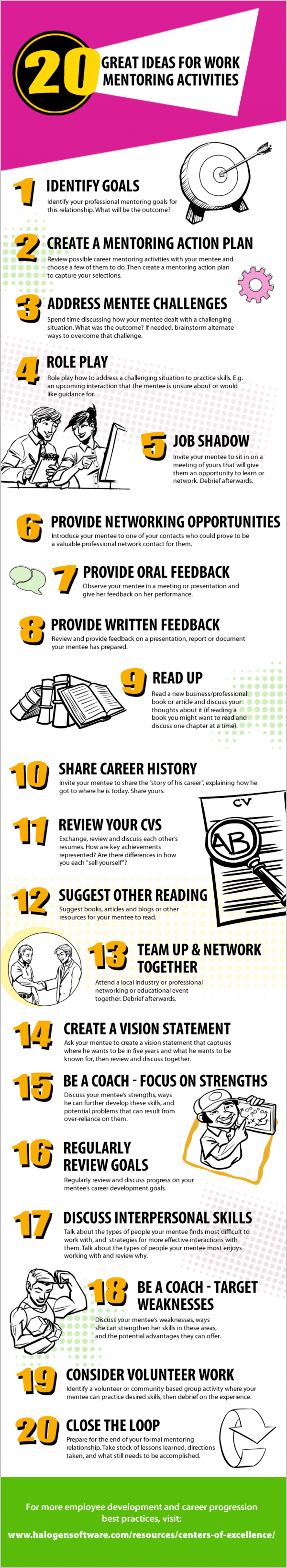 20 Great Ideas For Work Mentoring Activities Infographic