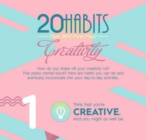 20 Habits That Will Fuel Your Creativity Infographic