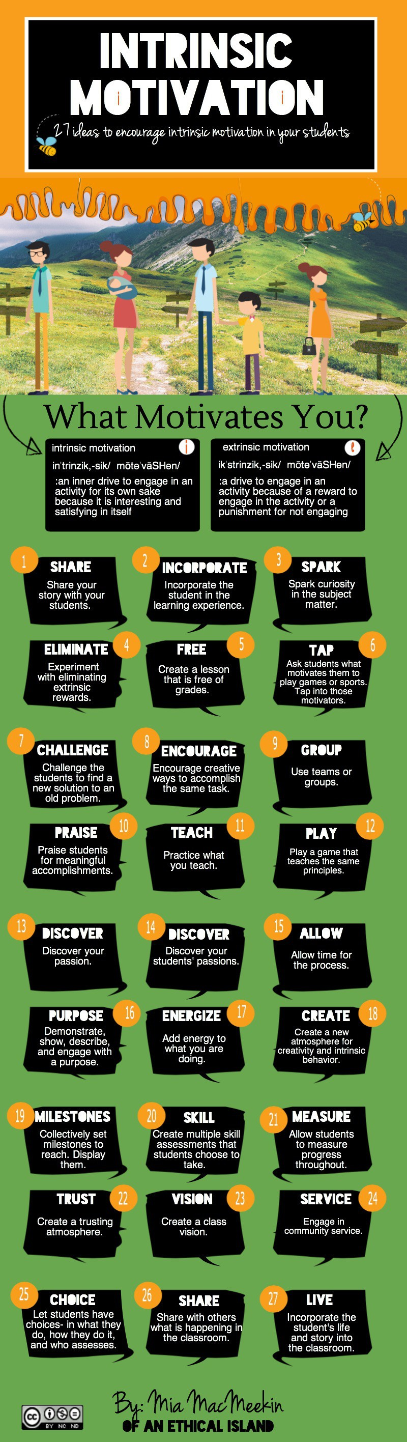 encourage intrinsic motivation infographic