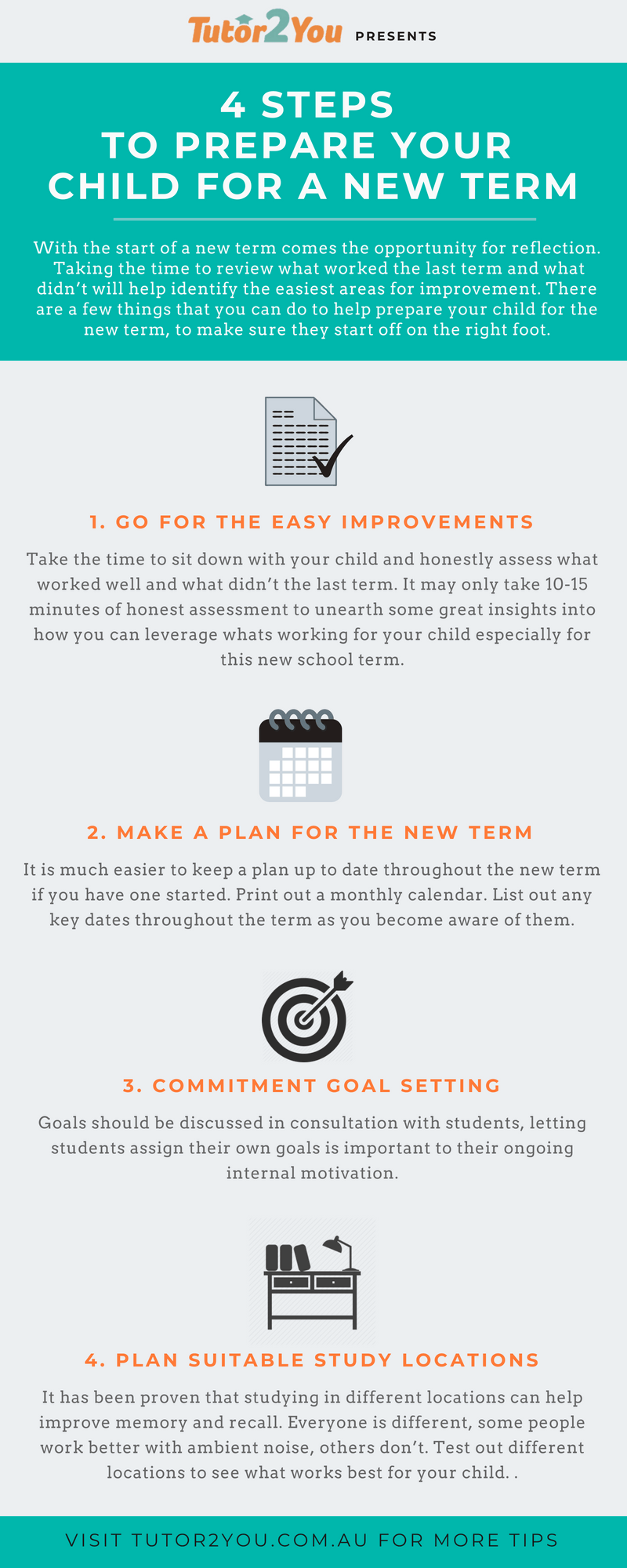 4 Steps To Prepare Your Child For A New Term Infographic