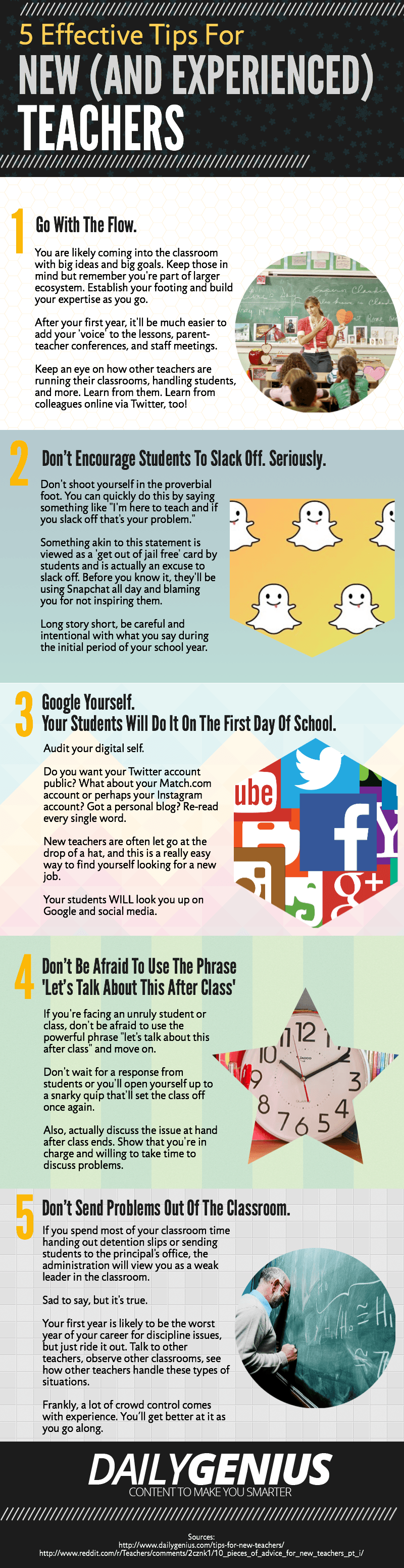 5 Tips for New Teachers Infographic