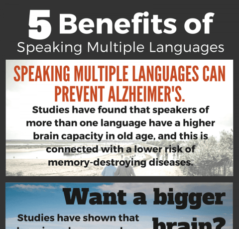 5 Benefits Of Speaking Multiple Languages Infographic