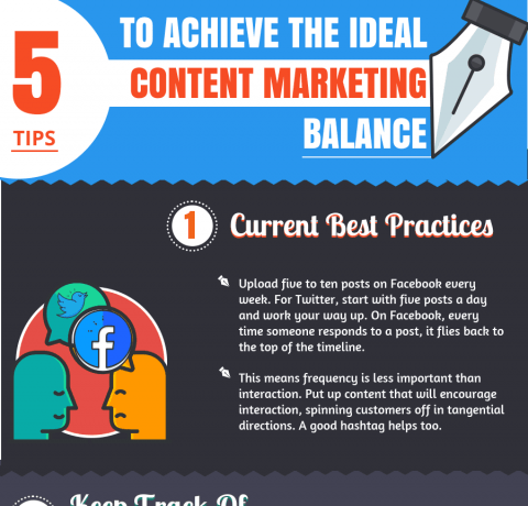 5 Tips To Achieve The Ideal Content Marketing Balance Infographic