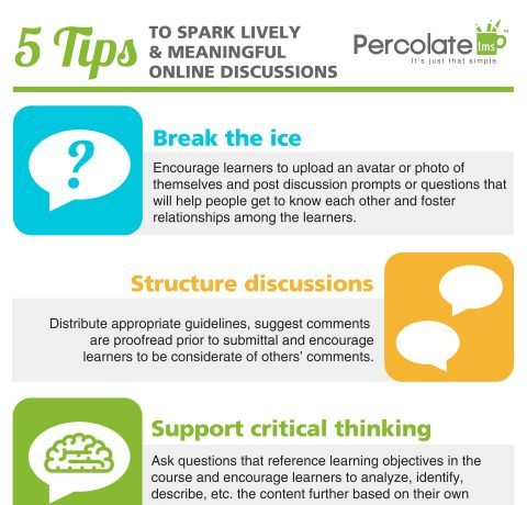5 tips to spark lively online discussions infographic e