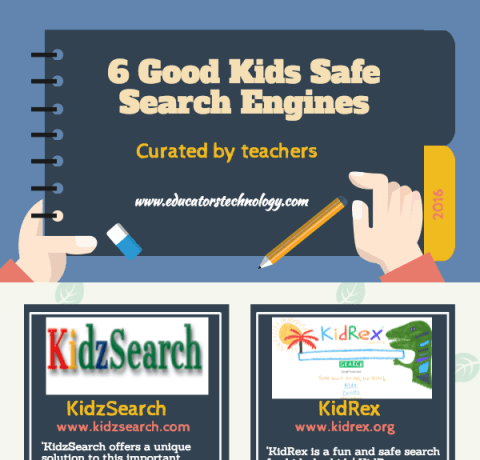 6 Kids Safe Search Engines Infographic