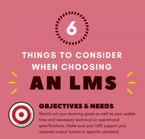 6 Things to Bear in Mind When Choosing an LMS Infographic