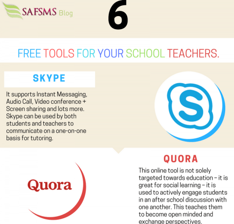 6 Free Tools for Teachers Infographic
