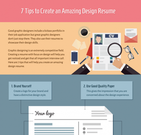 7 Tips to Create an Amazing Design Resume Infographic