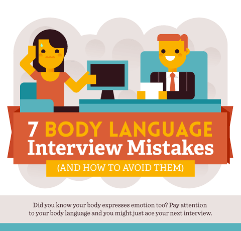 7 Body Language Job Interview Mistakes Infographic