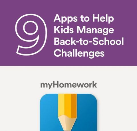 9 Apps to Help Kids Manage Back to School Challenges Infographic