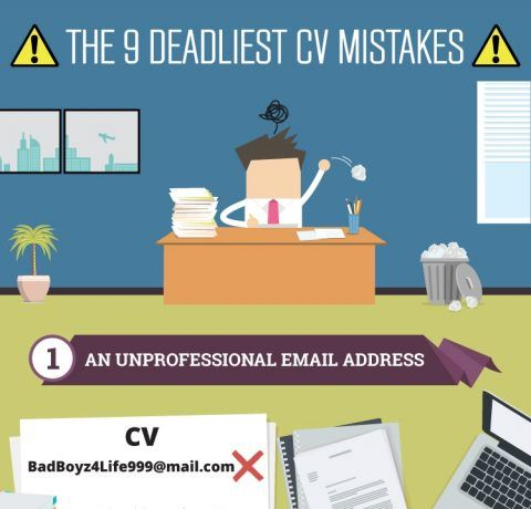 The 9 Deadliest CV Mistakes Infographic