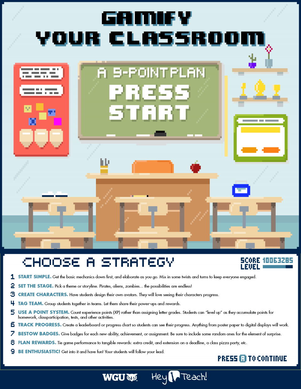 9 Key Elements of Classroom Gamification Infographic