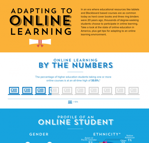 Adapting to Online Learning Infographic