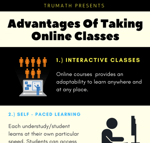 Why Online Courses Are An Advantage For Students Infographic