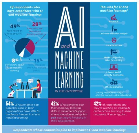 Artificial Intelligence and Machine Learning Infographic