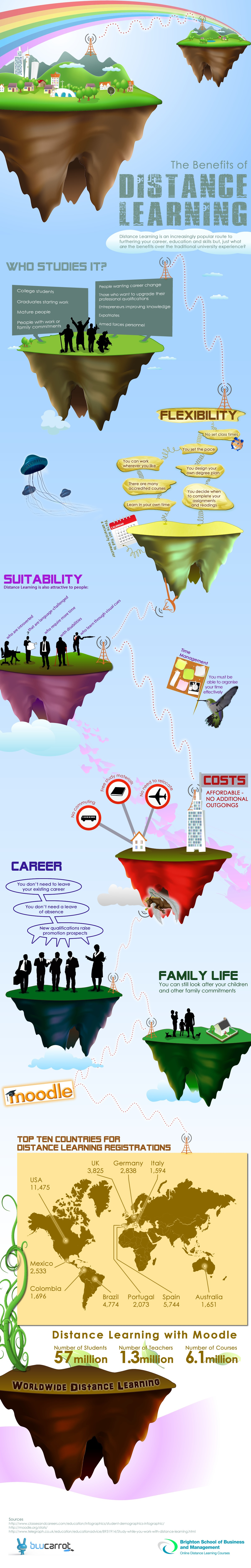 The Benefits of Distance Learning Infographic