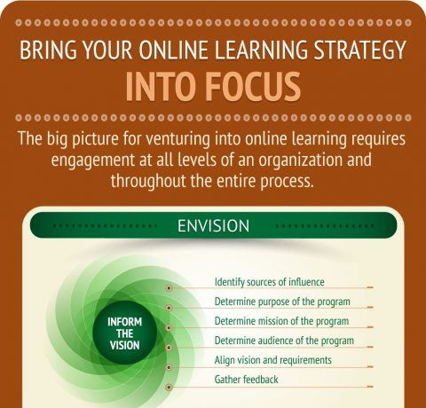 Bring Your Online Learning Strategy Into Focus Infographic