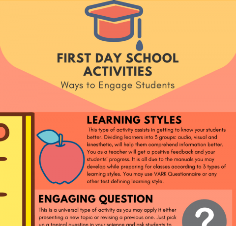First Day School Activities Infographic - e-Learning Infographics