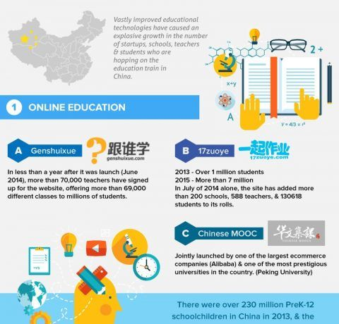 China's Online Education and eLearning Market Infographic