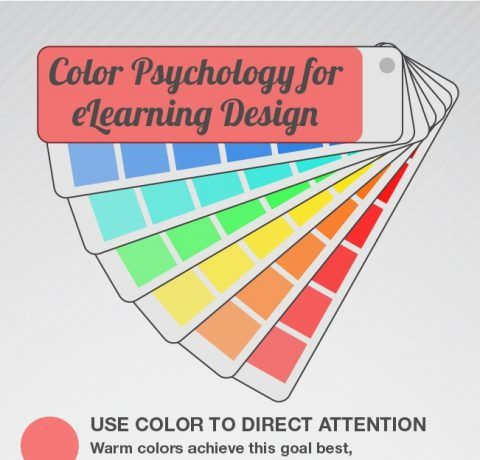 6 Tips To Use Colors When Designing eLearning Courses Infographic