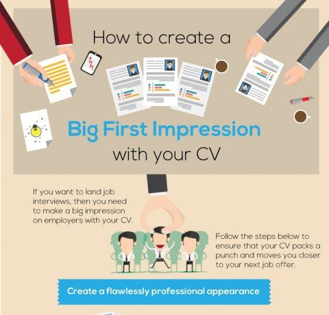 How to Create a Big First Impression with Your CV Infographic