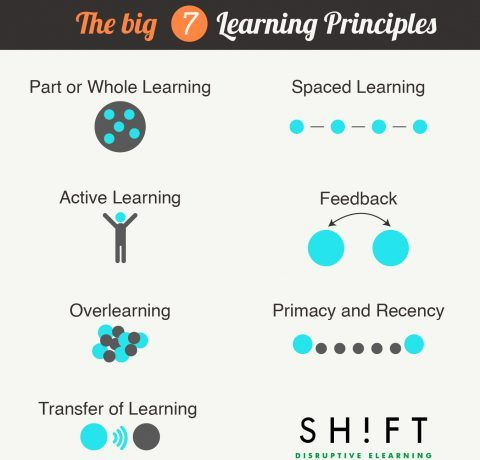 7 Learning Principles To Create Online Courses Infographic