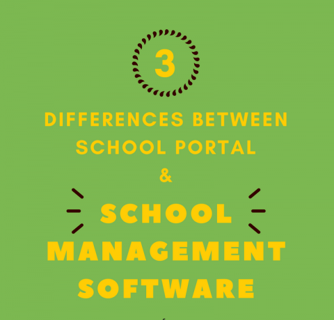 School Portal Vs School Management Software Infographic