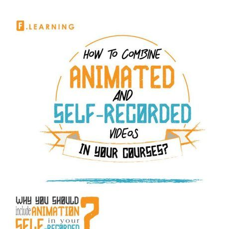 Combine Animated and Self-recorded Videos in Online Courses Infographic