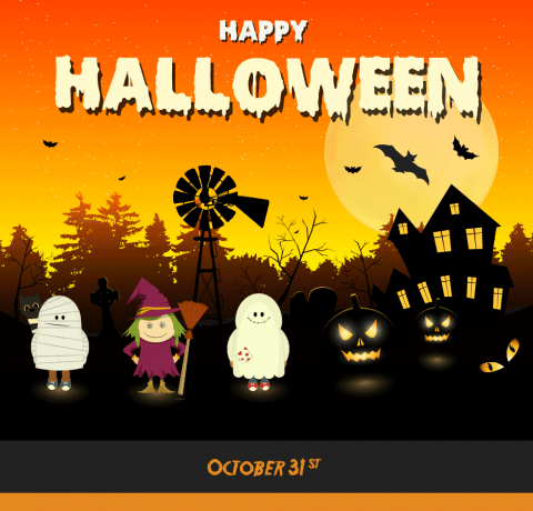 Have a Safe and Scary Halloween With Your Kids Infographic