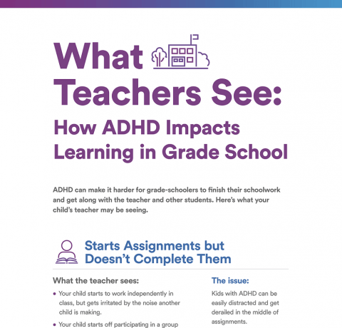 How ADHD Impacts Learning in Grade School Infographic