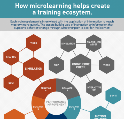 How Microlearning Helps Create a Training Ecosystem Infographic