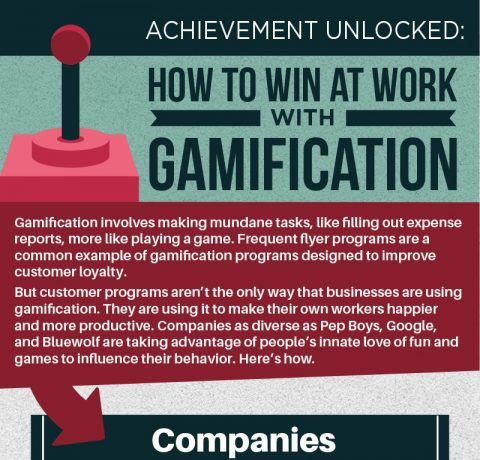 How to Win at Work with Gamification Infographic