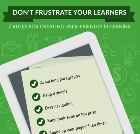How to Create User-friendly eLearning Courses Infographic