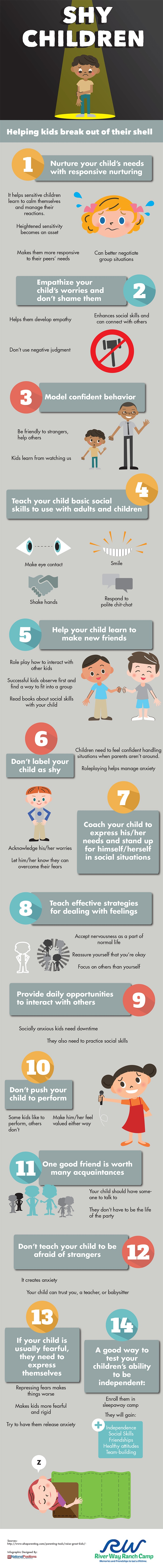 How to Help Shy Kids Break Out of Their Shell Infographic