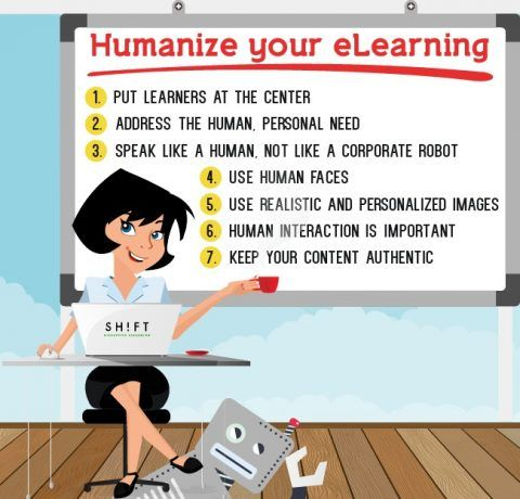 How to Humanize eLearning Infographic