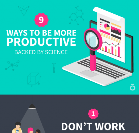 How to Increase Productivity at Work Infographic