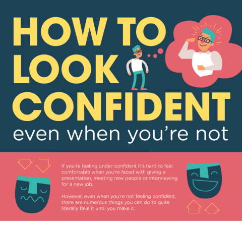 How to Look Confident Even When You Are Not Infographic
