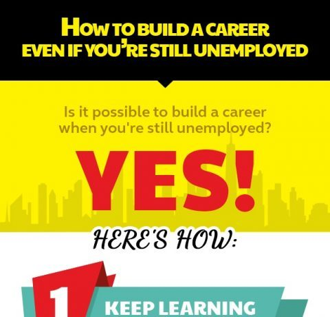 How To Build A Career Even If You Are Still Unemployed Infographic