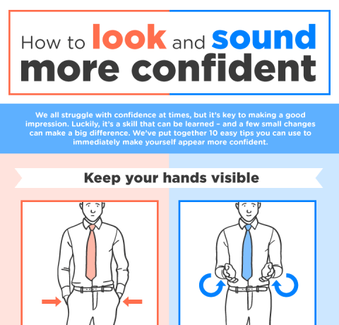 How To Look And Sound More Confident Infographic
